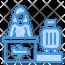 Check In Luggage Desk Icon