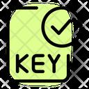 Check Key File Txt File Approve Key File Icon
