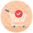 Check Out Shopping Cart Verified Shopping Icon