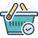 Checked Merchandise Basket Icon