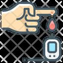Check Sugar Blood Sugar Glucose Meter Icon