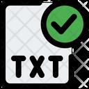 Check Txt File Txt File Approve Txt File Icon
