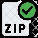 Check Zip File Zip File Approve Zip File Icon