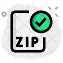 Check Zip File Icon