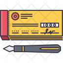 Checkbook Check Pen Icon