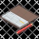 Checkbook Bank Voucher Pay Via Account Icon