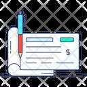 Checkbook Bank Cheque Check Book Icon