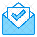 Checked Mail Message Icon