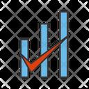 Checked Bar Graph Icon