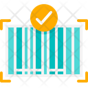 Checked Barcode Barcode Scan Icon
