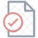 Checked File Sign Icon