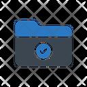 Folder Checked Files Icon
