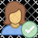 Checked user Icon