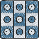 Checkers Strategy Pastime Icon