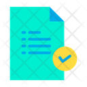 Verified Document Approve Document Verified Tasks Icon