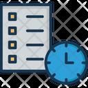 Checklist Clock Task Icon