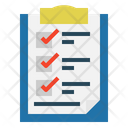 Notepad Check Mark Icon