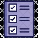 Checklist Report List Icon