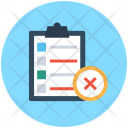 Checklist Clipboard Rejected Icon