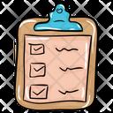 Checklist Tracklist Shopping List Icon