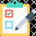 Checklist Pen Shopping Icon