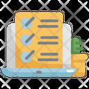 Checklist Laptop Working Icon