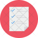 Checklist Tasks List Document Icon