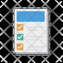 Checklist Document Sheet Icon