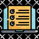 Checklist List Laptop Icon