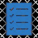 Checklist Document Menu Icon