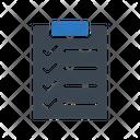 Checklist Records Clipboard Icon