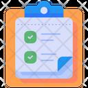 Checking List List Clipboard Icon