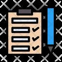 Checklist Tasklist Edit Icon