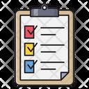 Graph Checklist Clipboard Icon
