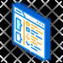 Checklist Tasks Isometric Icon