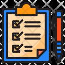 Clipboard Check Document Icon