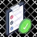 Checklist Verified Report Items List Icon