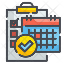 Checklist Schedule Check Document Icon