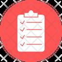 Checklist Clipboard File Holder Icon