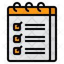 Checklist Notepads Notebook Icon