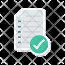 Checklist Tick Document Icon