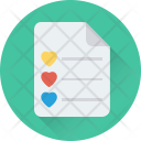 Checklist Love Hearts Icon
