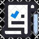 Customer Review Feedback Checklist Report Icon