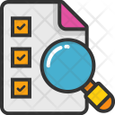 Checklist with Magnifier Icon