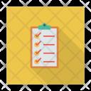 Checkmark Clipboard Report Icon