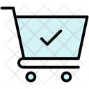 Checkmark Complete Shopping Cart Icon
