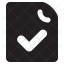 Checkmark Document Collection Icon