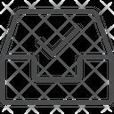 Checkmark Inbox Icon