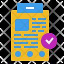 Checkup Data Examination Icon