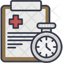 Checkup Time Medical Appointment Health Time Icon